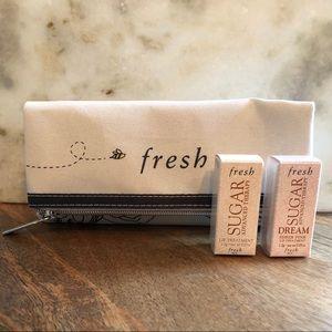 Fresh SUGAR Lip Treatments with Fresh Bag